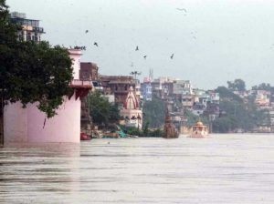Ganga is scaring, the water level is rising every hour, the ghats are submerged